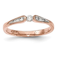 14K Rose Gold Diamond Promise Ring