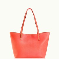 GiGi New York Mini Taylor Salmon Pebble Grain Leather