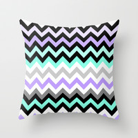 Chevron #14 Throw Pillow by Ornaart