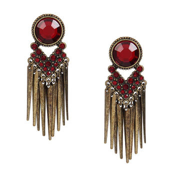 Red Jewelry Tassel Earrings