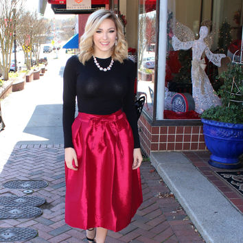 Holiday Ready Red Skirt