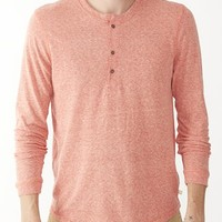 Alternative Apparel - | Product details - Burnside Long Sleeve Henley Shirt