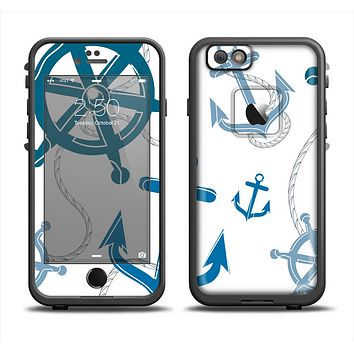 The Nautical Anchor Collage Apple iPhone 6 LifeProof Fre Case Skin Set