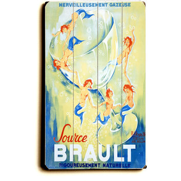 Brault Sparkling Mineral Water Wood Sign