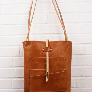 Limited Edition Leather Multi-Pocket Utility Tote