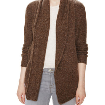 Cinch Back Cashmere Draped Cardigan