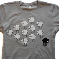 BLACK SHEEP alternative apparel tshirt SMLXL by SwitchDesignsNYC