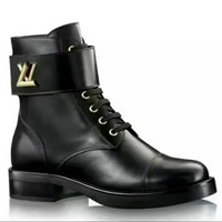 Fashion Online Lv Louis Vuitton Women Heels Shoes Boots