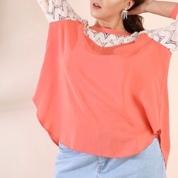 Umgee Yoke Sleeve Top