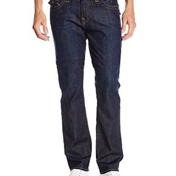True Religion Men's Ricky Relaxed Straight Fit Jean In Wanted Man, Wanted Man, 40x34