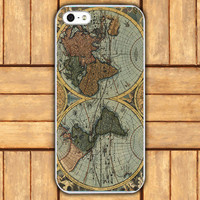 iphone 4 casevintage style world map iphone 4 or 4s by mycases