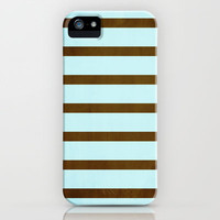 stripes (brown & blue) iPhone & iPod Case by daniellebourland