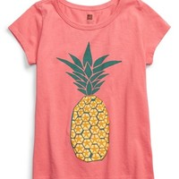 Girl's Tea Collection 'Pineapple' Graphic Tee,