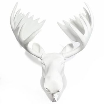 Moose Head - White Lacquer | Fauxidermy | Animal Heads | Z Gallerie