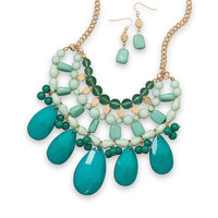 Emerald City Fashion Necklace and Earring Set