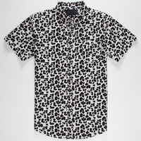 No Retreat Cheetah Mens Shirt White  In Sizes