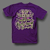 Sweet Thing Funny Not Perfect Amazing Purple Girly Bright T Shirt