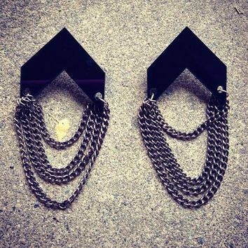 RETRO CHAIN TASSEL EARRINGS