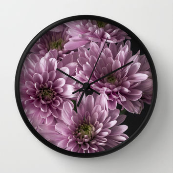 Pretty Little Flowers Wall Clock by Maureen Bates Photography