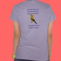 Bird song tees from Zazzle.com