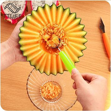 TTLIFE Ice Cream Dig Ball Scoop Spoon Baller DIY Assorted Cold Dishes Tool Watermelon Melon Fruit Carving Knife Cutter Gadgets