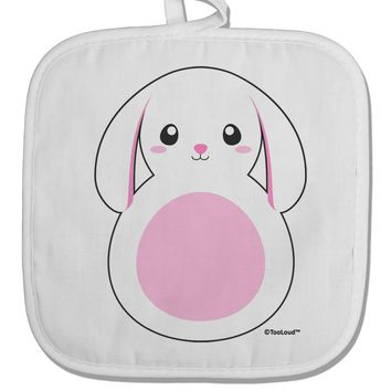 TooLoud Cute Bunny with Floppy Ears - Pink White Fabric Pot Holder Hot Pad