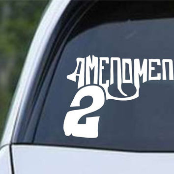 2nd Amendment Gun Control Rights Die Cut Vinyl Decal Sticker