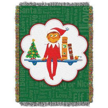 Elf on a Shelf Christmas Tradition 48x60 Woven Tapestry Throw FREE US SHIPPING