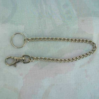 Silvertone Watch Chain 10-inches Long