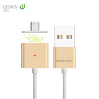 Universal Original WSKEN Dual-phase Alloy Metal Magnetic Micro USB Data Charger Cable For Android Cell Phone Samsung HTC Xiaomi