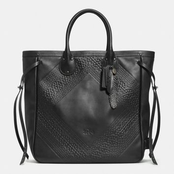 TATUM TALL TOTE IN TOOLING LEATHER