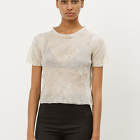 Totokaelo - Maison Margiela Calico Sheer Ribbed Knit Top - $455.00