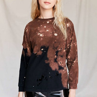 Urban Renewal Remade Destroyed Bleached Long-Sleeved Shirt - Urban Outfitters
