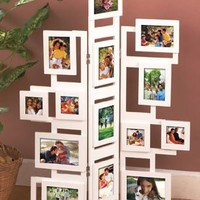 Photo Frame Collage Stands Holds 14 Family and Friends Pictures (WHITE):Amazon:Home & Kitchen