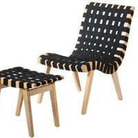 Woven Lounge Chair and Ottoman