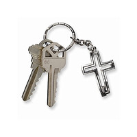 Dimensions of Christ Cross Fish Key Ring