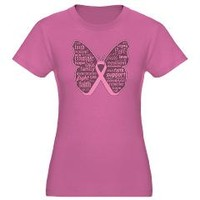 Breast Cancer Butterfly Ribbon Shirts
