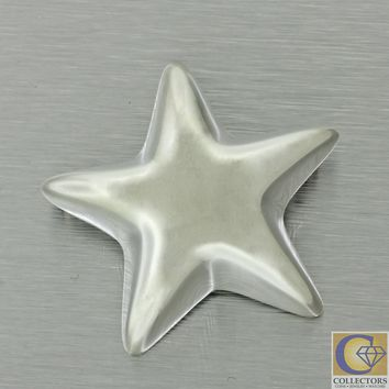 RARE Vintage Tiffany and Co. 925 Sterling Silver Puffed Star Brooch Pin Mexico