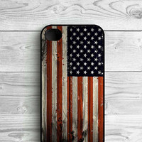 Wooden American flag Paisley flower mandala henna hardcover plastic Phone Cover For iPhone 4 4 s SE 5 5 s 5 c 6 6s 6plus case