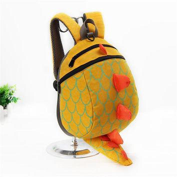 Hot Sale Baby School Bag Cartoon Animal Pattern Kindergarten Kids Backpacks Anti-lost Book Bag Mochila For Children 1-4 Year Old