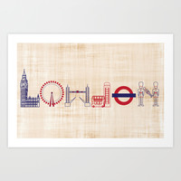 I spy, London Art Print by tyler olivia