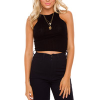 Monet Crop Top - Black