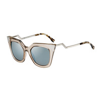 Iridia Flash Sunglasses with Mirror Lens, Light Golden - Fendi