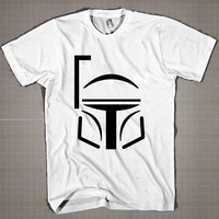 Boba Fett Mask  Mens and Women T-Shirt Available Color Black And White