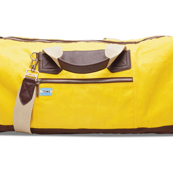 TOMS Small Citrus Wax Canvas Trekker Duffel