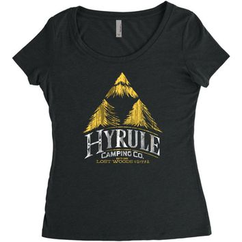 hyrule camping company Women's Triblend Scoop T-shirt