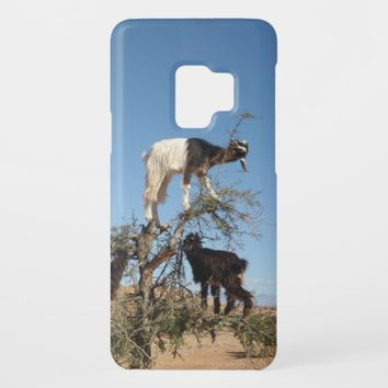 Funny goats in a tree Case-Mate samsung galaxy s9 case