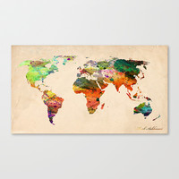 map world  Stretched Canvas by Mark Ashkenazi