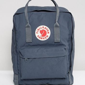 Fjallraven Classic Kanken Backpack in Graphite at asos.com