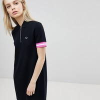 Fred Perry Tipped Pique Polo Dress at asos.com